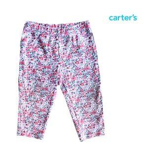 Carter's Pink Flower Leggings Size 12mo